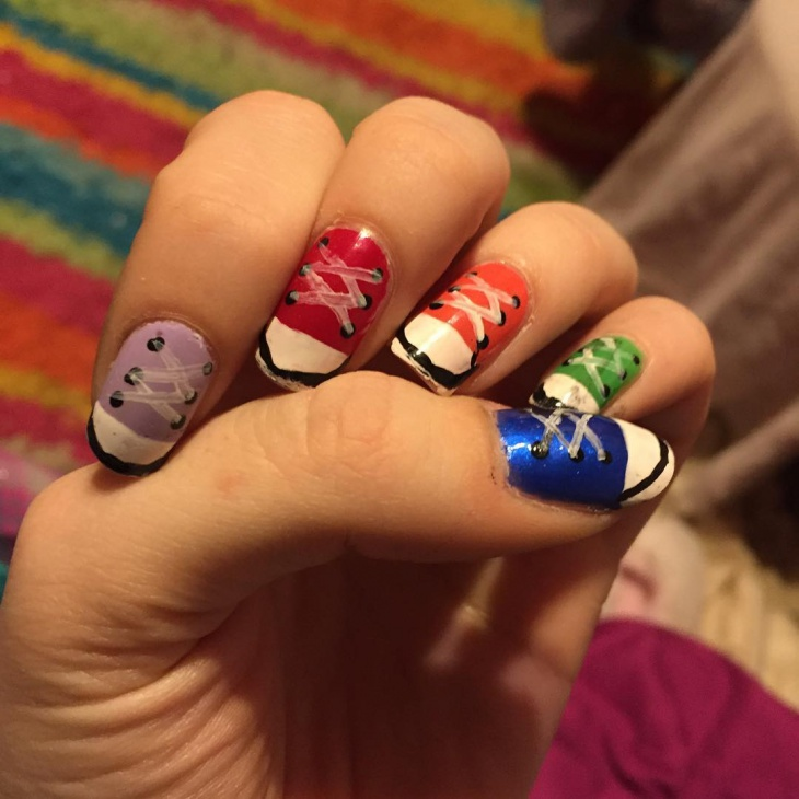 Running Shoe Nail Art