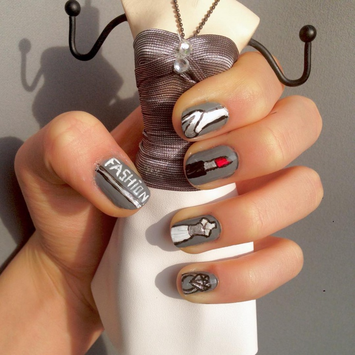 High Heel Shoe Nail Art