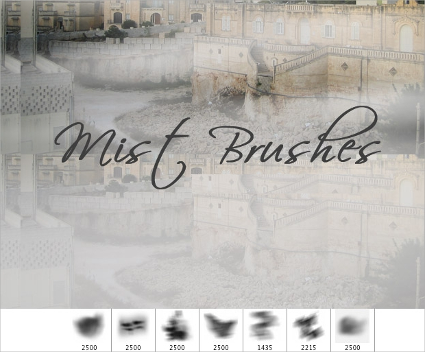 free fog mist photoshop brushes1