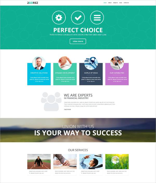 Reliable Financial Advisor WordPress Theme