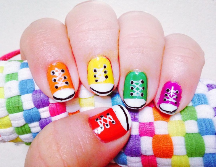 Cute Shoe Nail Design