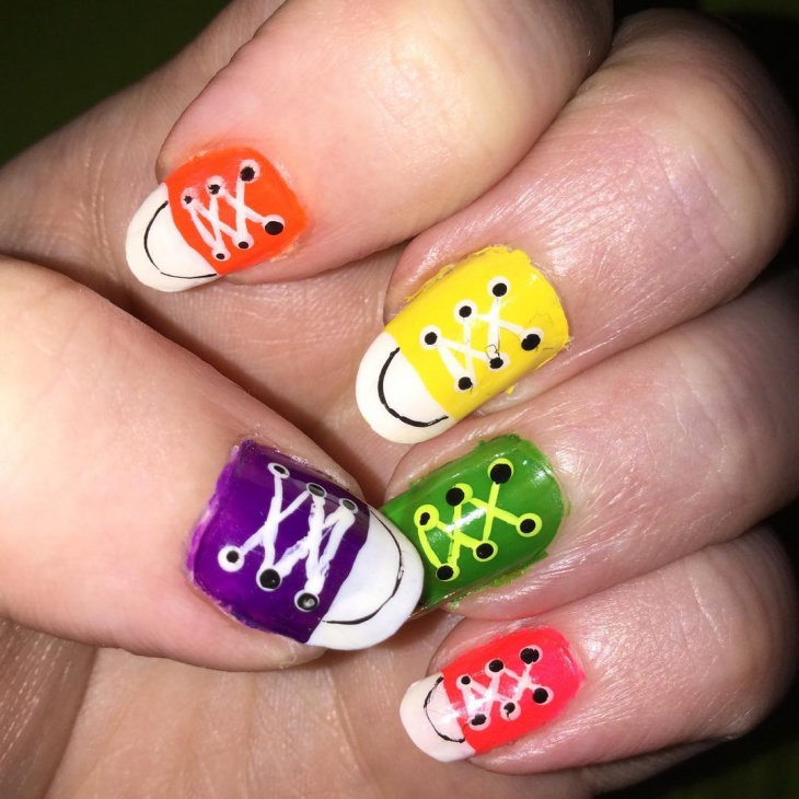 Colorful Shoe Nails