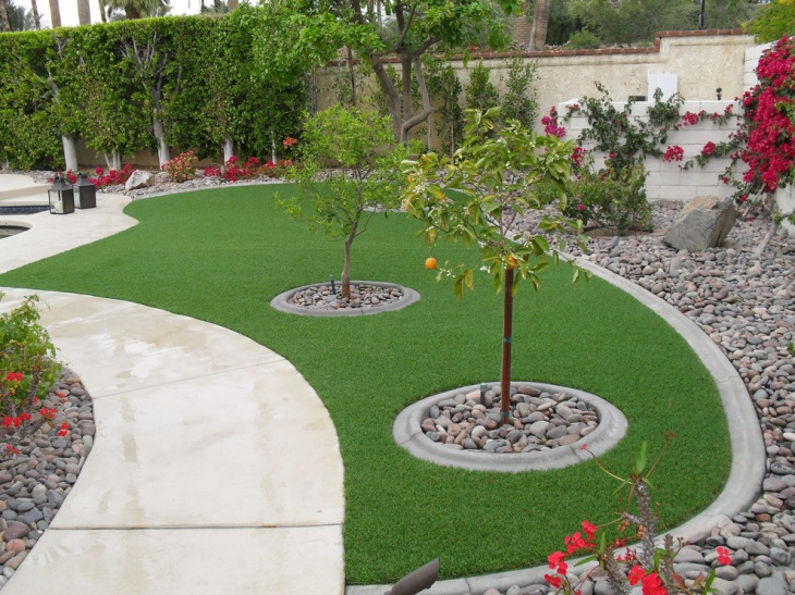simple landscape with grass lawn