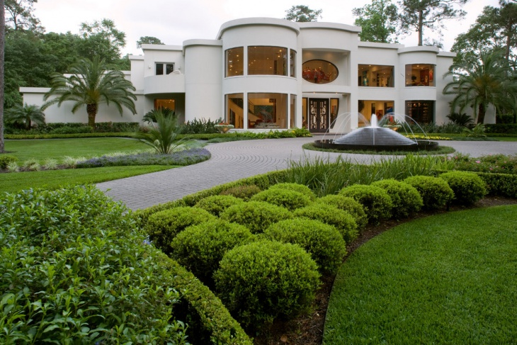 lavish home landscape design idea