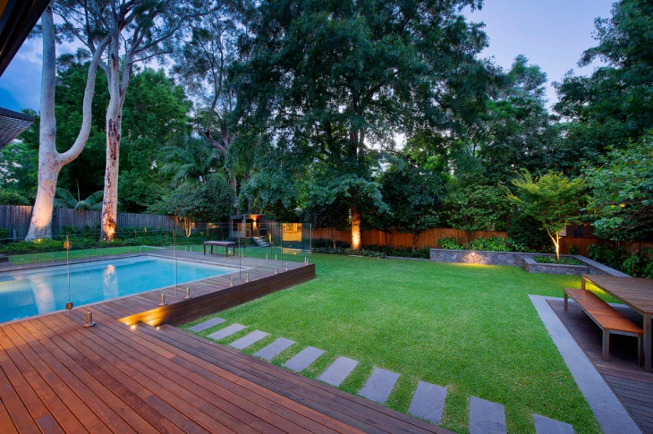 contemporary grass landscape design