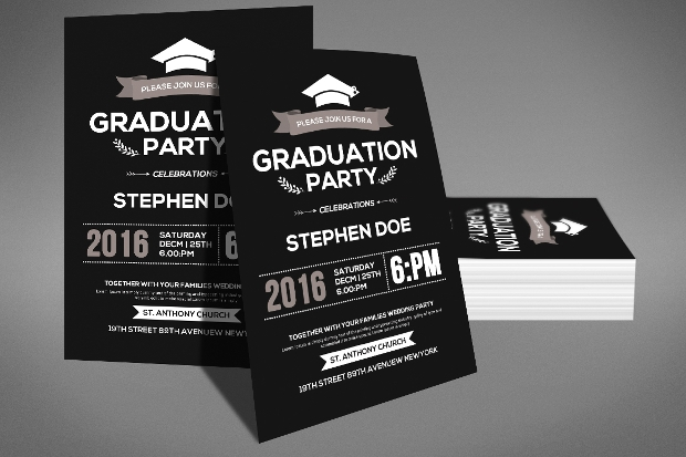Graduation Party Flyer Templates  Printable Psd Ai Vector