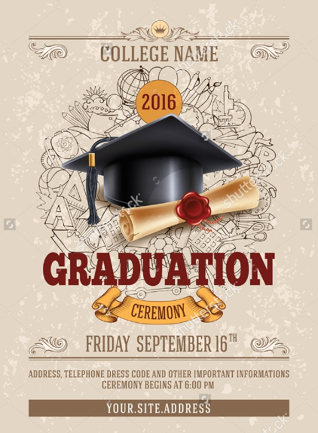 Graduation Party Invitation Flyer