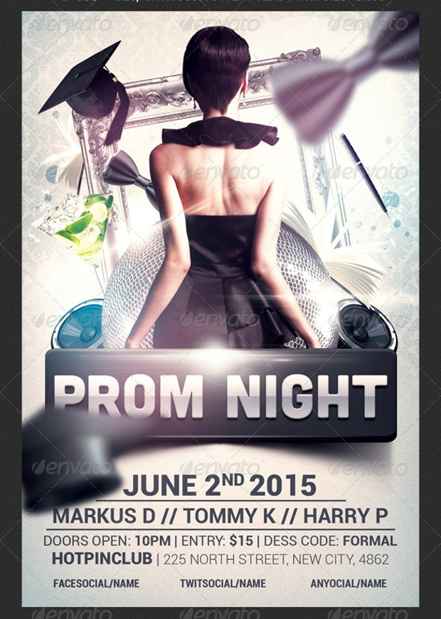 Editable Graduation Prom Flyer