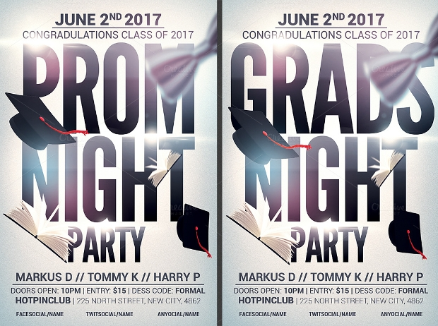17+ Graduation Party Flyer Templates - Printable PSD, AI, Vector ...
