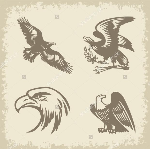 vintage eagle vector