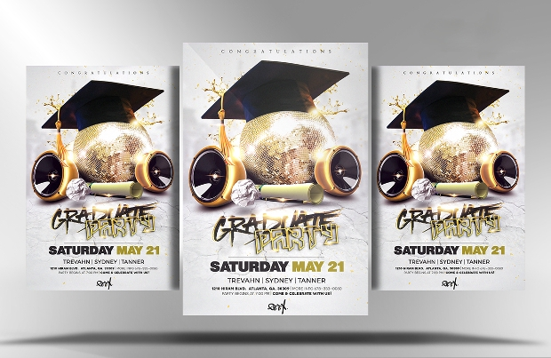 Graduation Party Psd Flyer