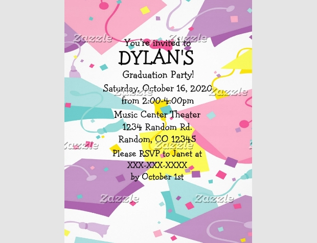 Pastel Theme Graduation Party Flyer