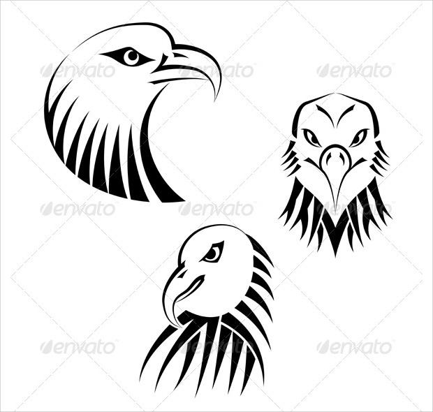 eagle head png vector