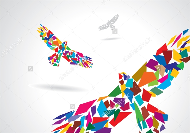 Abstract Colors Flashy Bird 4k: EPS, PNG, JPG, SVG Format Download