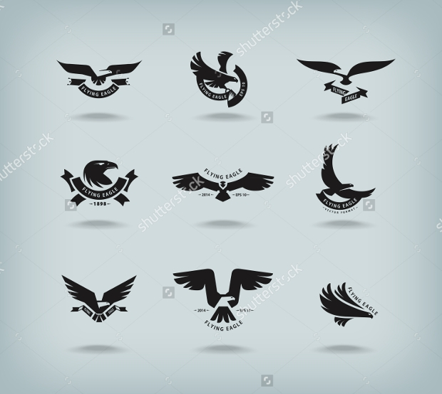 High Quality Black Eagles Vector
