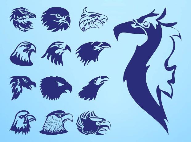 nature eagle head vector