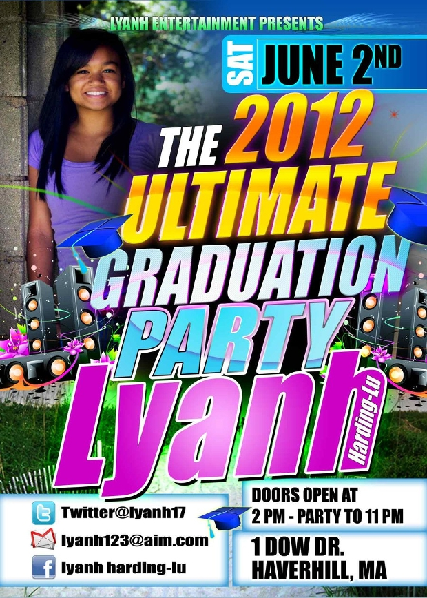 Simple Graduation Party Flyer