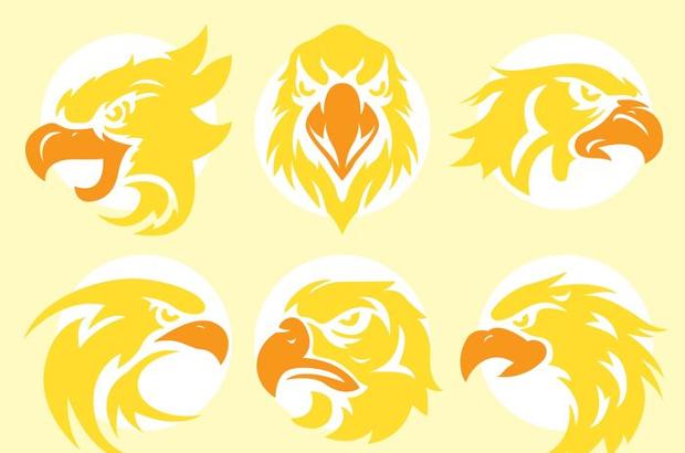 golden eagle head vectors