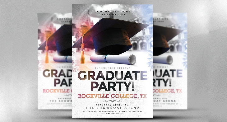 17 Graduation Party Flyer Templates Printable Psd Ai Vector Eps