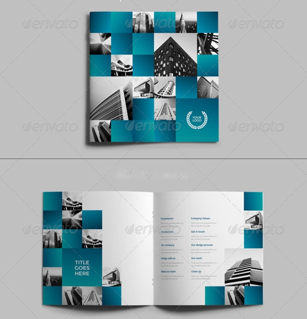 A4 Square Architecture Brochure