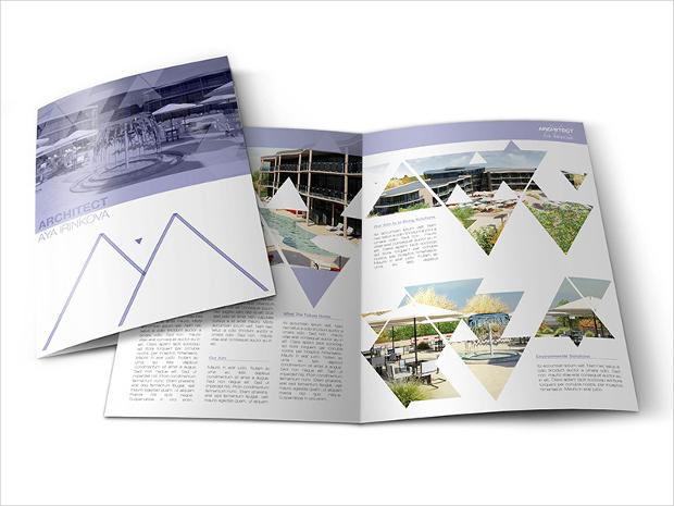 architecture bi fold brochure