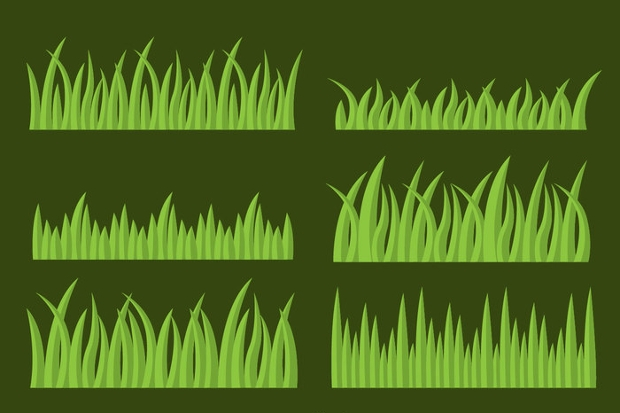 ground grass vector set
