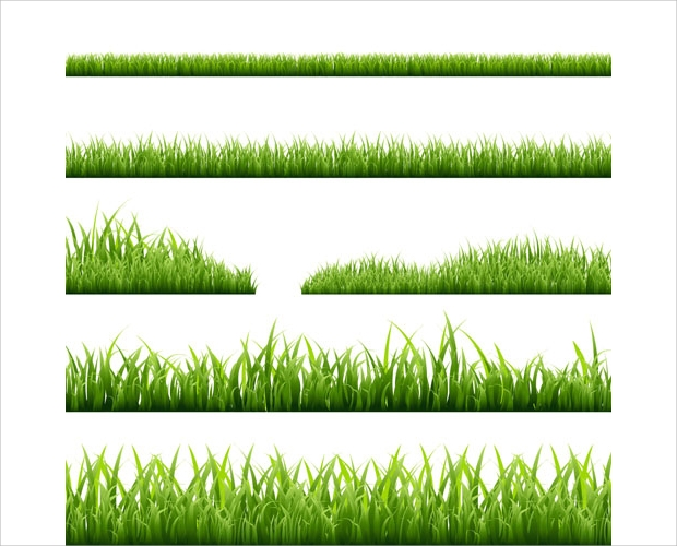 grass border vector set