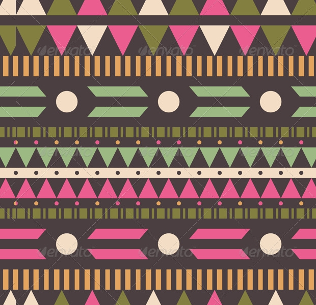 Geometric PSD Ethnic Pattern