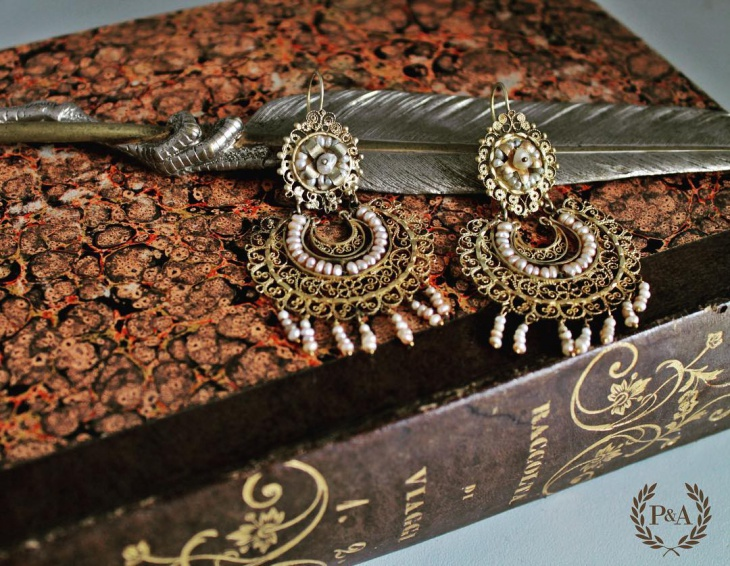 Antique Chandelier Earrings Design