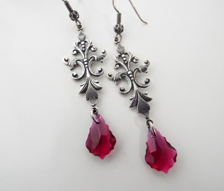 Antique Ruby Jewelry Earrings