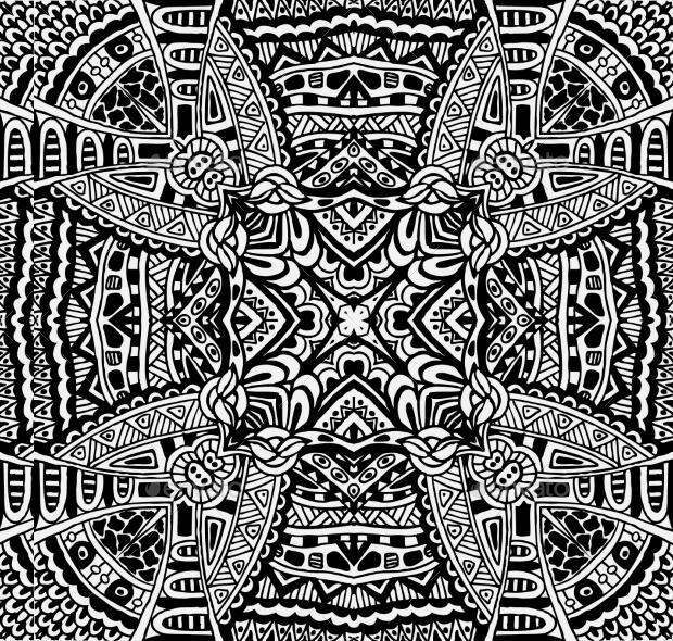 Vintage PSD Ethnic Pattern