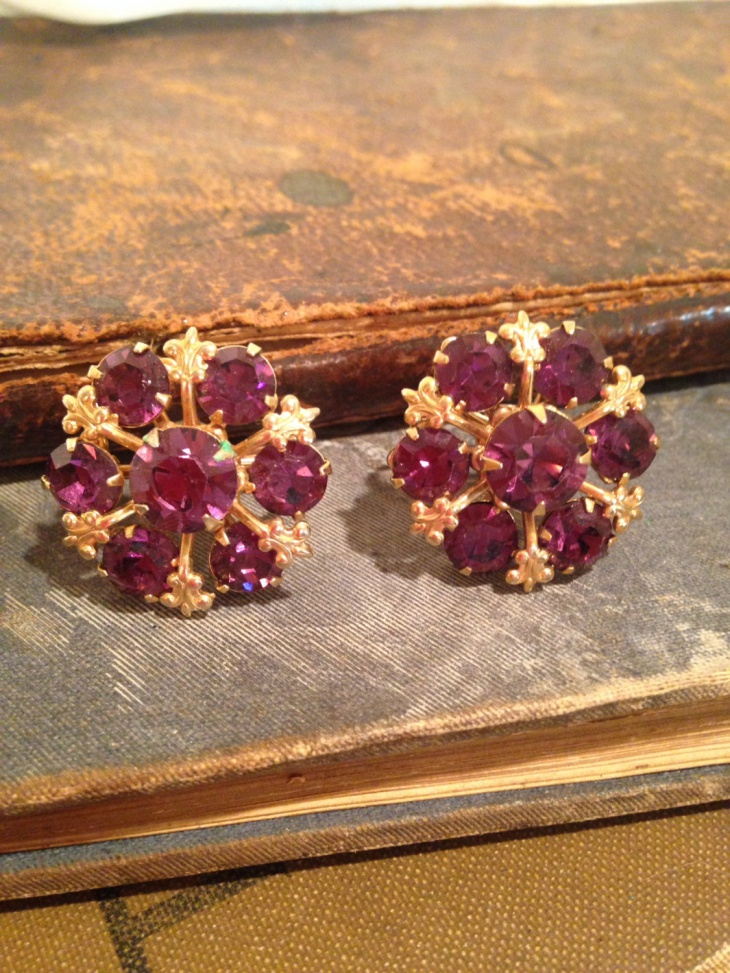 Vintage Snowflake Earrings