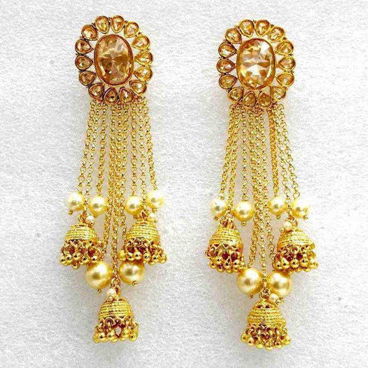 Designer Jhumki Earrings Design