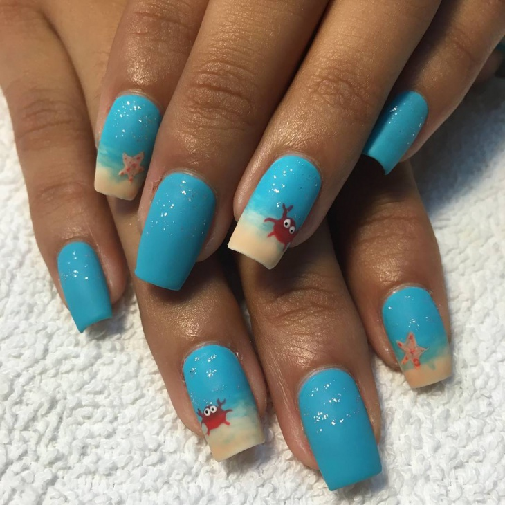 21 ocean nail art designs ideas design trends premium psd beach themed nail design prinsesfo Gallery