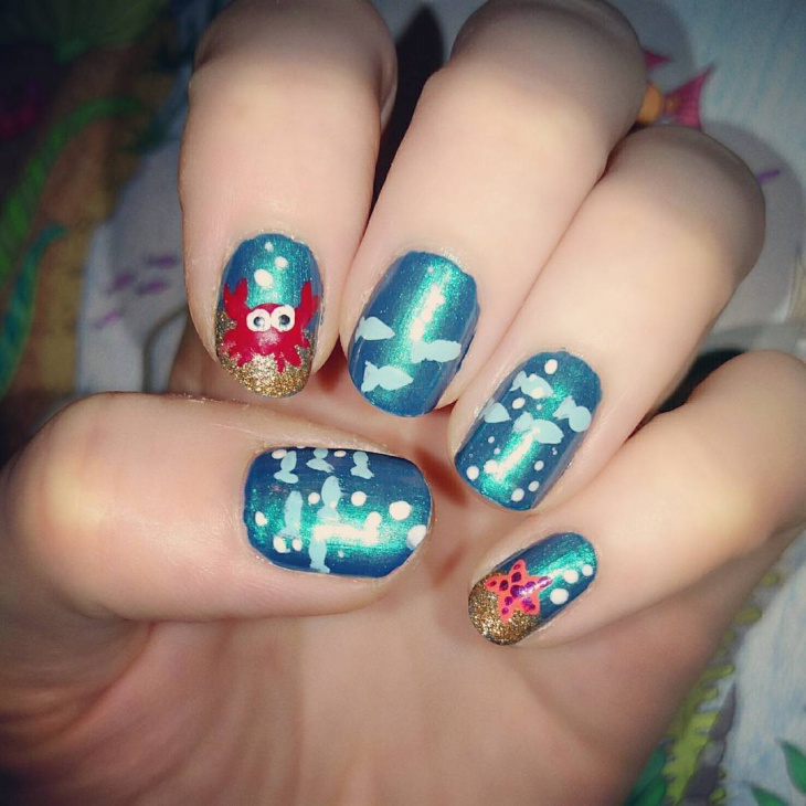 Mermaid Nail Art Idea