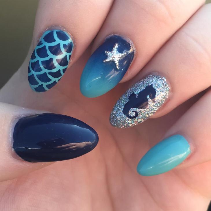 21+ Ocean Nail Art Designs, Ideas | Design Trends ...