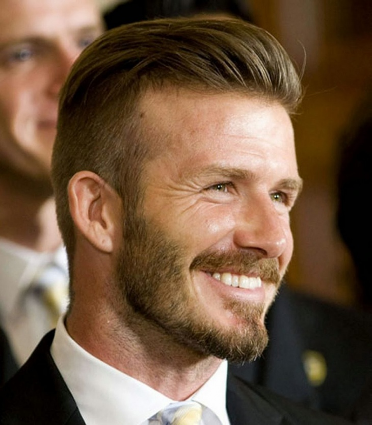 David Beckham Messy Disconnected Hairstyle
