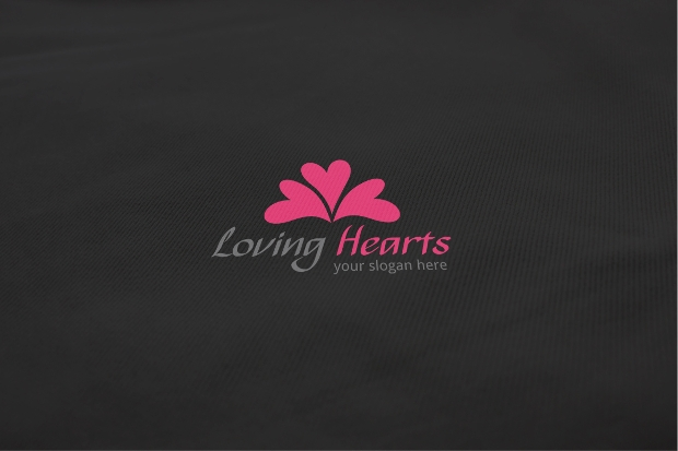 loving hearts logo design