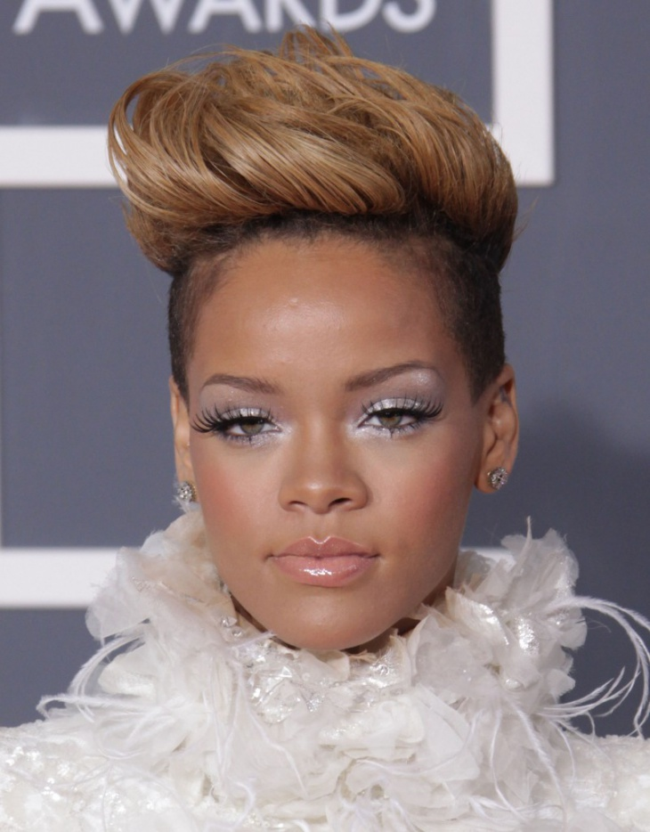 Rihanna High Volume Disconnected Hairdo