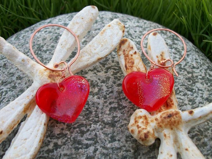 Pink Love Hoop Earrings