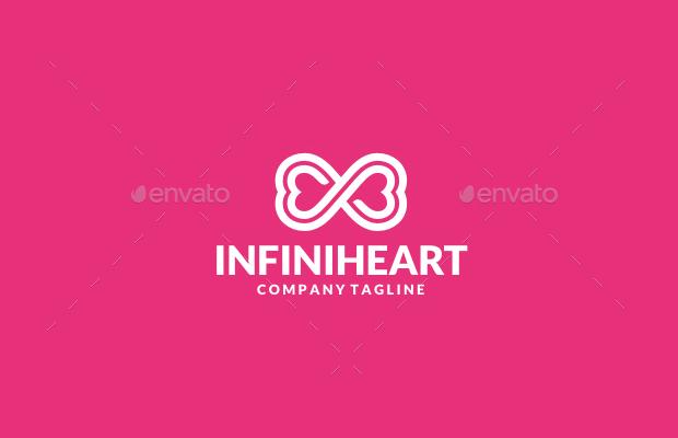 infinity heart psd logo