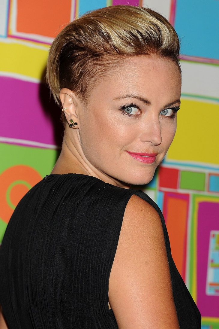 Malin Akerman Disconnected Undercut Hair