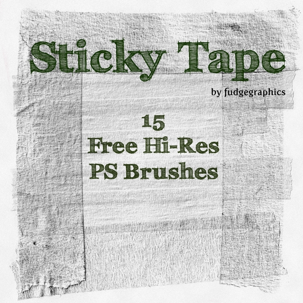 Sticky Tape Hi-Resolution PS Brushes