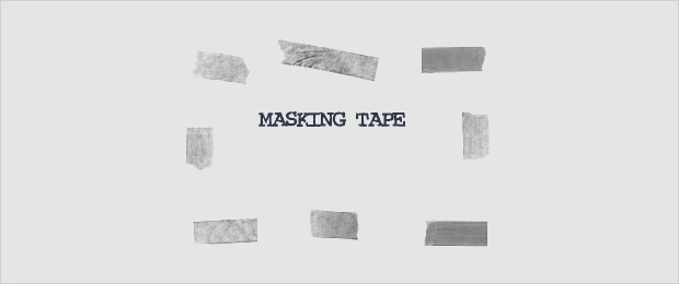 Masking Tape Brushes Set