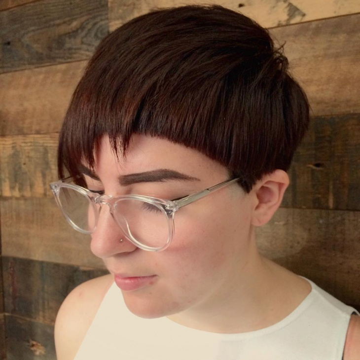 Disconnected Bowl Cut Hairstyle