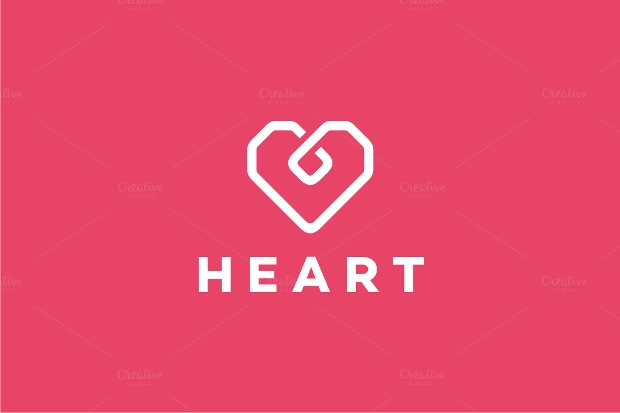 square heart logo