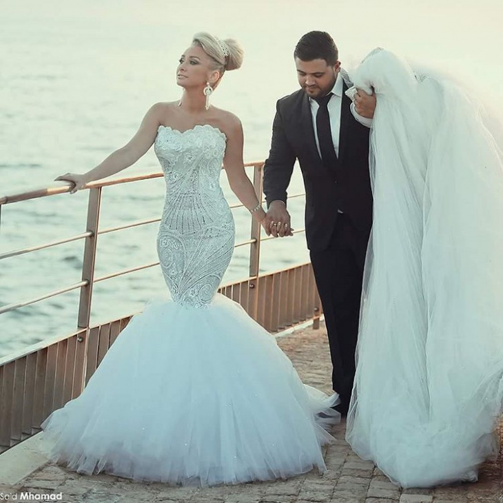 mermaid wedding gown idea