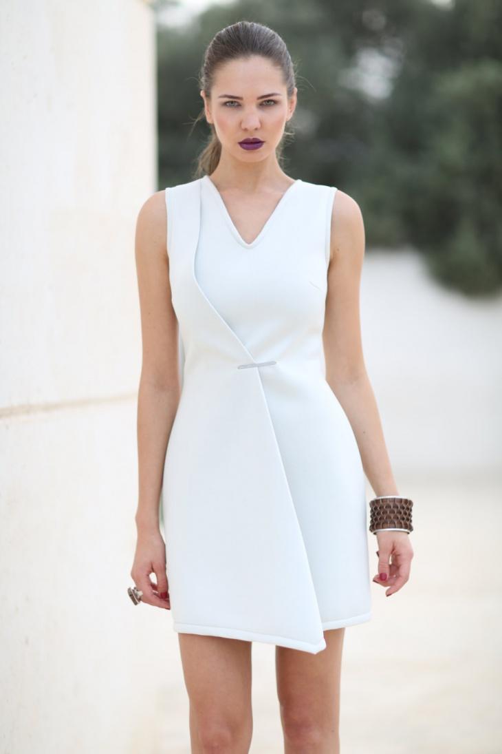 back zipper cocktail dress