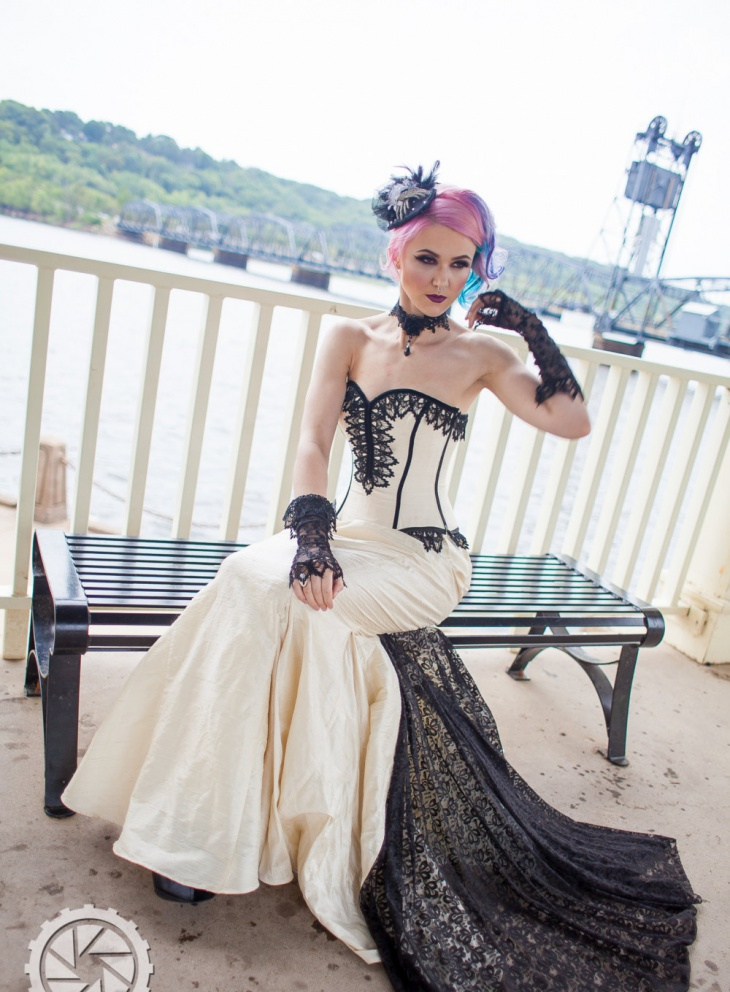 steampunk mermaid gown