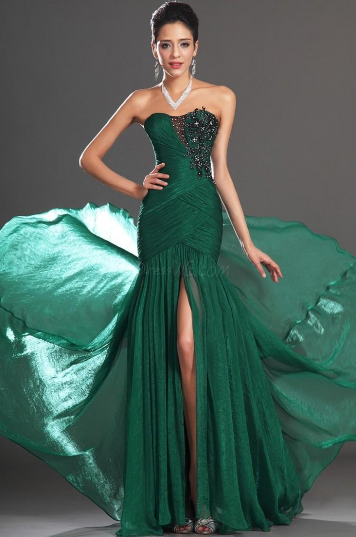 gorgeous green mermaid gown